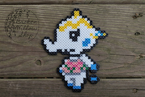 Animal Crossing Tia Inspired Perler Bead Art