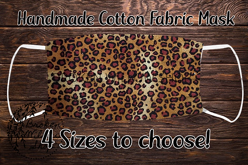 Leopard Cheetah 100% Cotton Face Mask