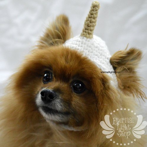 Pet Unicorn Hat Crocheted (XS-XL)