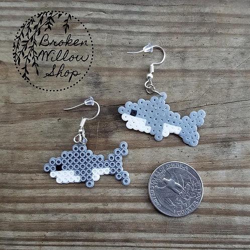 Little Sharks Mini Perler Earrings