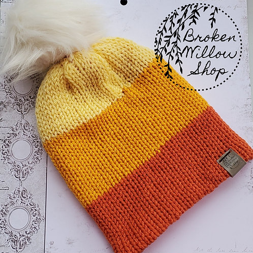 Ready To Ship Teen/Adult Double Knit Beanie Optional Pom Pom
