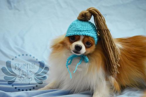 ANY Sizes/Colors Pet Pony Tail Hat Beanie (XS-XL) Messy Bun