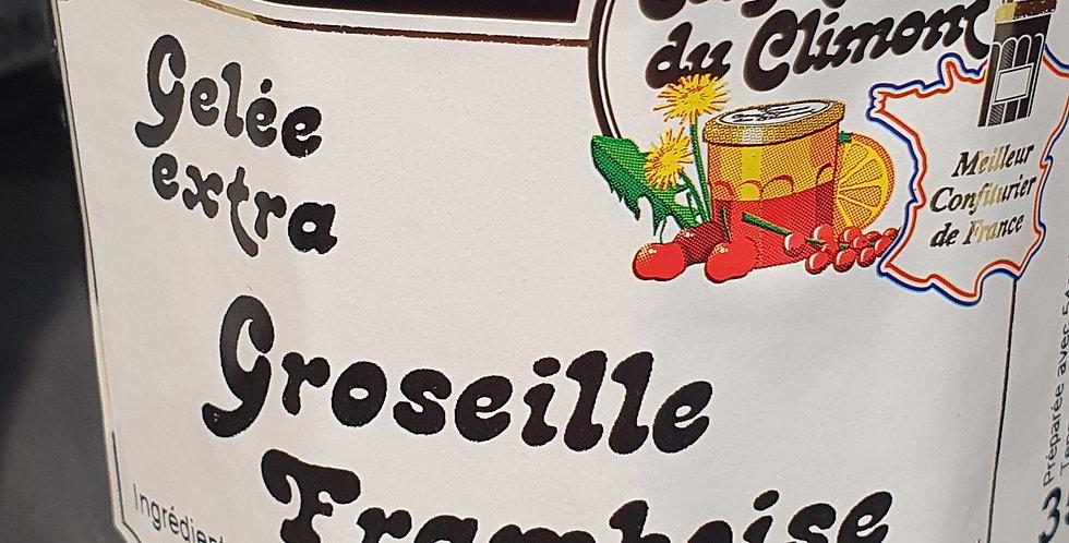 """Confiture de Climont """"Gelée de Groseille Framboise"""" (350g)"""