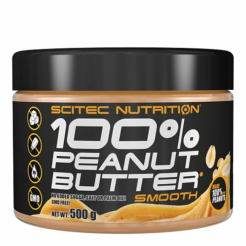 100% Beurre de cacahuètes 500g -  Scitec Nutrition