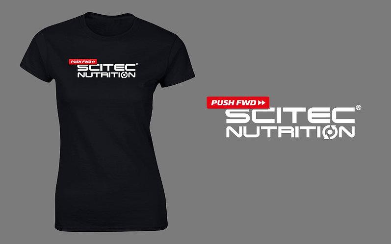 T-shirt Femme - Scitec Nutrition. Vêtement de sport noir