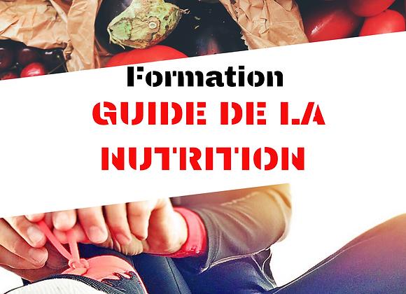 FORMATION GUIDE DE LA NUTRITION