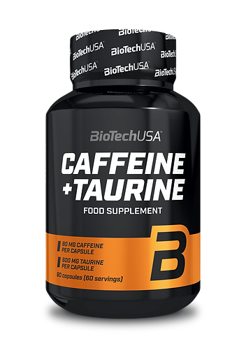 Caffeine + Taurine 60 caps - BioTechUSA. Booster et énergisants naturel