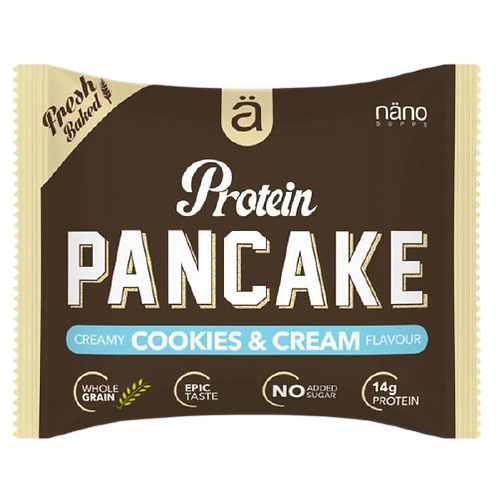 Pancake protéiné - Nano Supss 45g sans sucres ajoutés. Goût cookies et crème