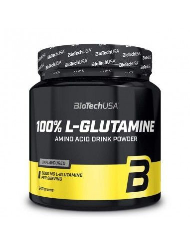 100% L-glutamine BioTechUSA . Acide aminé en poudre. Amino acid drink powder