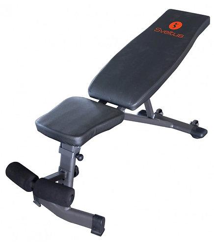 Banc de musculation 5 positions - Sveltus.  Pieds anti-glisse. Pour entrainement à domicile.