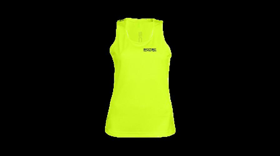 Débardeur  jaune Femme - Scitec Nutrition. Vêtement sport jaune fluo