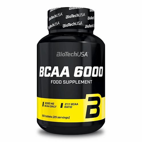 BCAA 6000 - 100 tabs - BioTechUSA. Acides aminés en comprimés