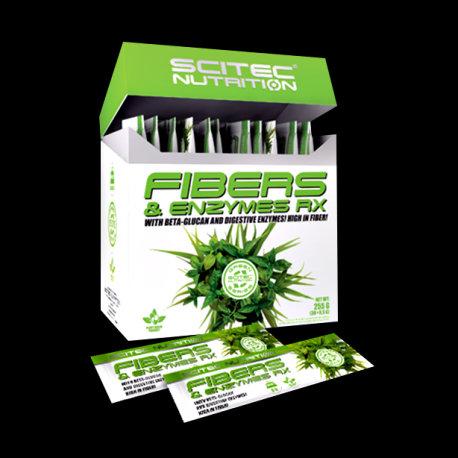 Fibers & Enzymes RX (30 sachets de 8.5G) - Scitec Nutrition. Fibre et enzymes. Contre les troubles digestifs. Détoxification