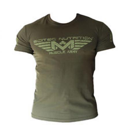 T-Shirt Muscle Army Homme - Scitec Nutrition. Vêtement de sport