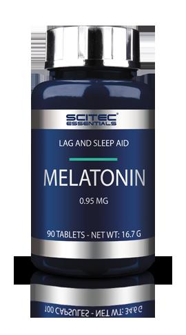 Mélatonine 90 capsules - Scitec Nutrition. Trouble du sommeil fatigue et jet lag.