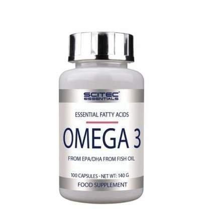 Oméga 3 - 100 capsules - Scitec Nutrition. Huile de poisson, acides gras. Santé et bien être