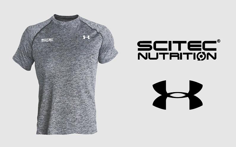 """T-shirt Homme """"Under Armour"""" gris - Scitec Nutrition. Vêtement de sport"""