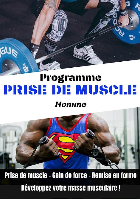 Programme de prise de masse musculaire homme - online fit - coaching en ligne