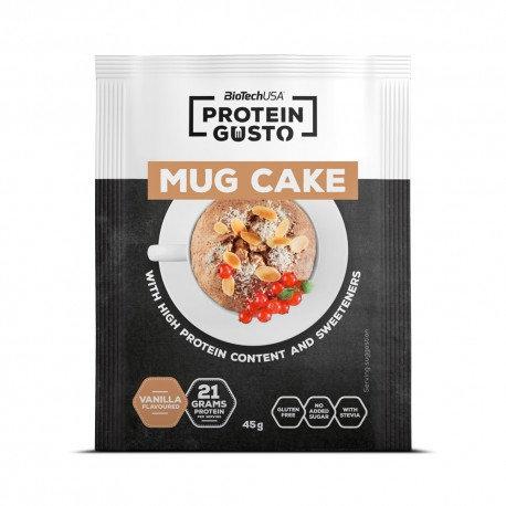 Mug cake protéiné 45g - BioTechUSA. Gâteau à faire au micro-onde pour les collation saine des sportifs.