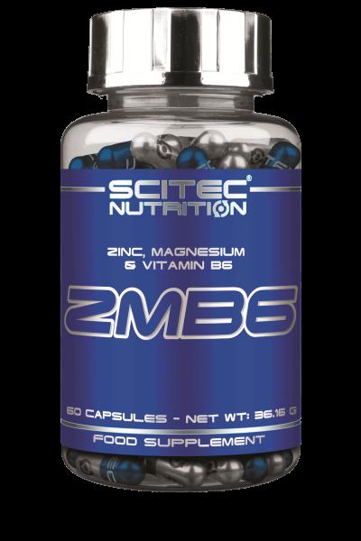Zmb6 60 caps - Scitec Nutrition. Zinc, magnésium et vitamine B6. Booste la testostérone et l'é