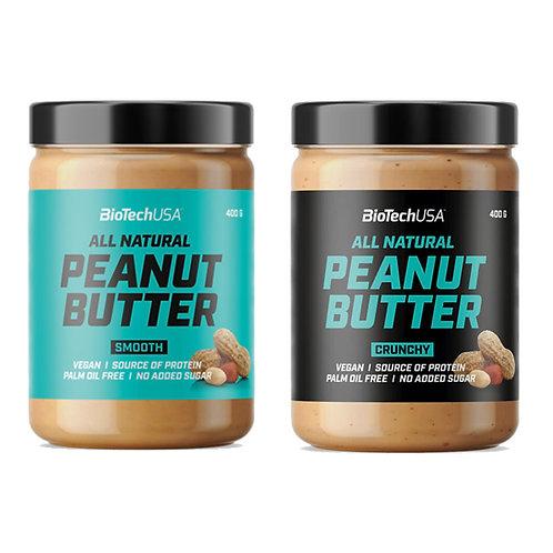 Peanut Butter Crunchy 400g - BioTechUSA. Beurre de cacahuète diététique