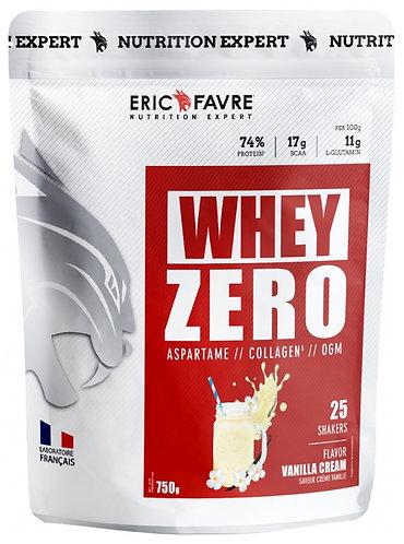 Whey Zero : Protéine concentrée sans aspartame, sans collagène, sans OGM. 750g - Eric Favre.