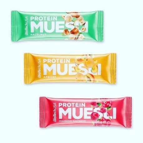 Protein Muesli 30 g, barre protéinés aux fruits - BioTechUSA