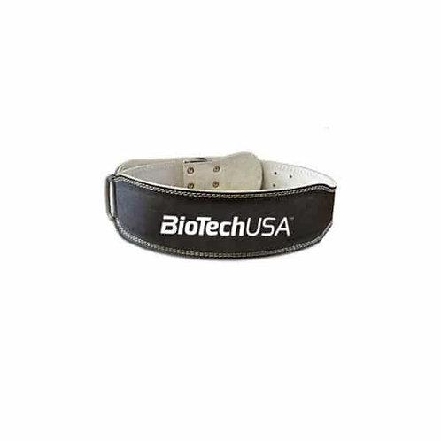 Austin Ceinture en cuir noir - BioTechUSA. Ceinture de force réglable. Maintient des lombaires, du dos.