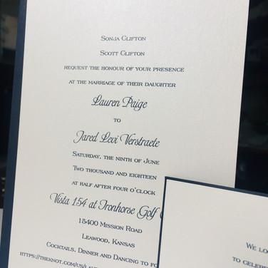 Modern Romance Invitation Suite