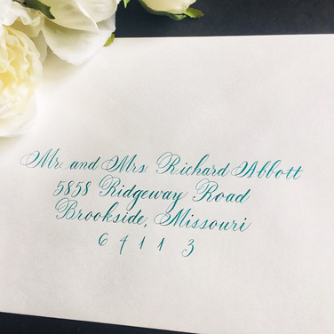 Flourished Copperplate lettering style