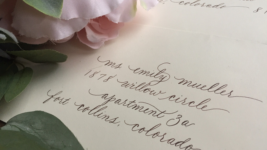 Modern Calligraphy in brown ink