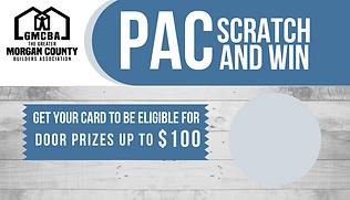 PAC Fundraiser Scratch & Win Card