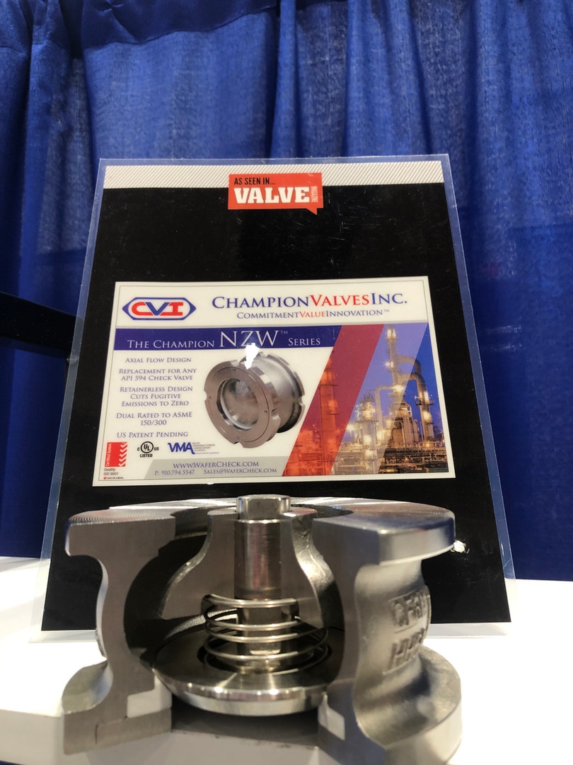 Champion Valves Inc. model NZW wafer axial flow check valve