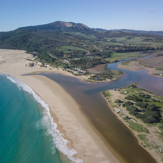 Tarifa Lagoon drone view