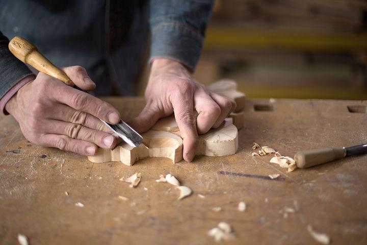 Carpenter ânsia em madeira