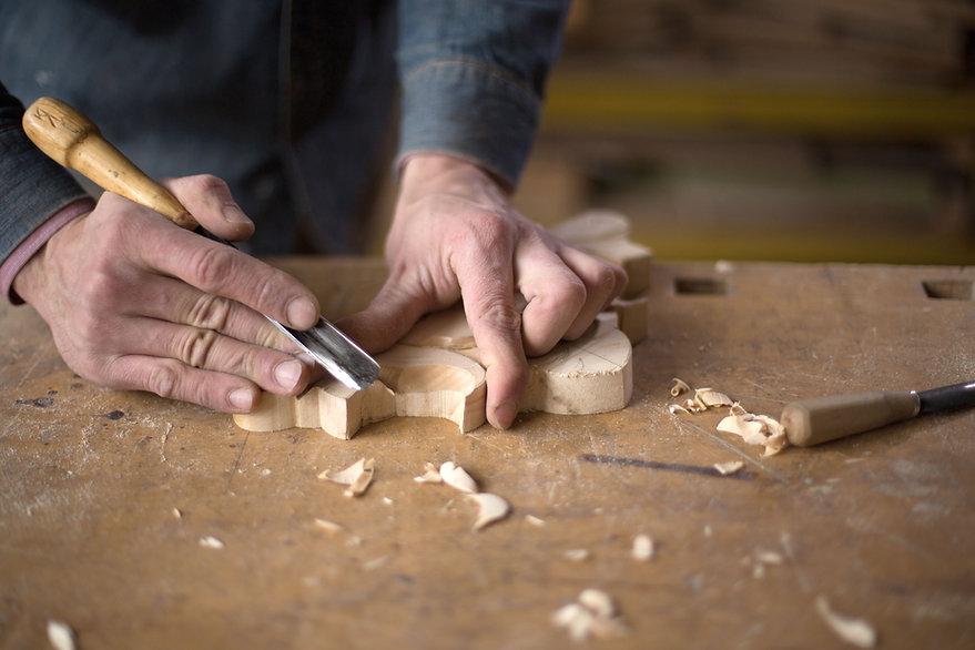 Carpenter Craving in Wood