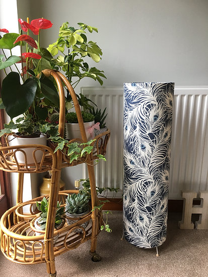 Blue Feather Floor Lamp