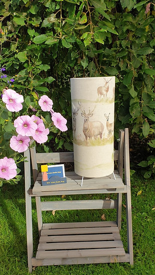 Stag Scene Tall Table Lamp