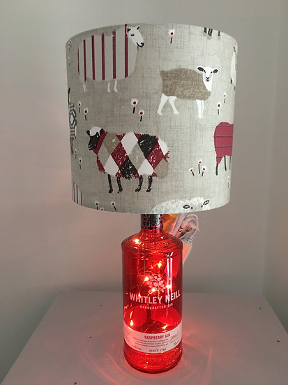 Red Baa Baa Sheep with Fairy Lights