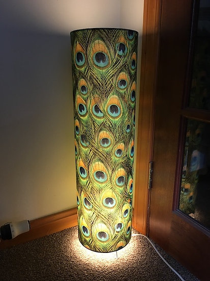 Bright Peacock Feather Floor Lamp