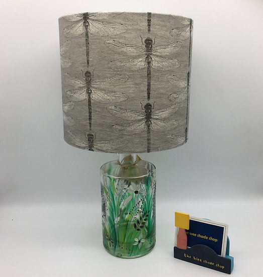 Dragonfly Hand Painted Bottle Lamp