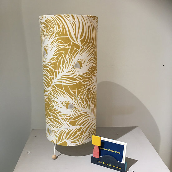 Mustard Feather Tall Table Lamp