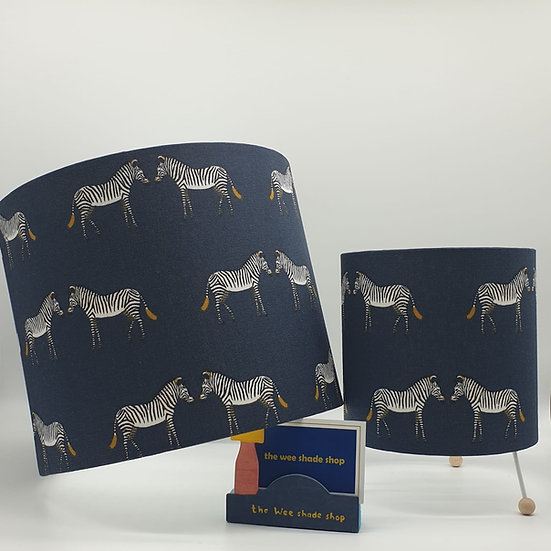 Sophie Allport Zebra Print Mini Lamp and matching Pendant