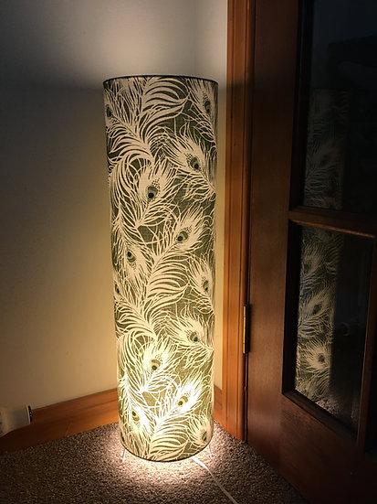 Green Feather Floor Lamp
