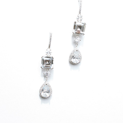 gwen products bridal wedding diamante chandelier earrings