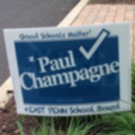 Paul Champagne 2015 EPSD Campaign Yard S