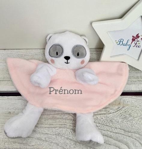 Doudou personnalisé panda fille