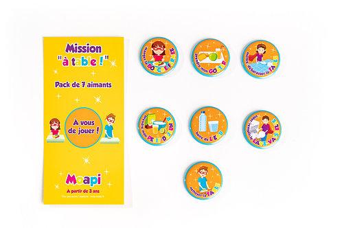 """Pack Mission """"à table"""" ! - 7 aimants"""
