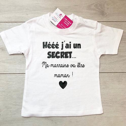 Tee-shirt original ma marraine va être maman