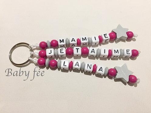 Porte-clefs message mamie